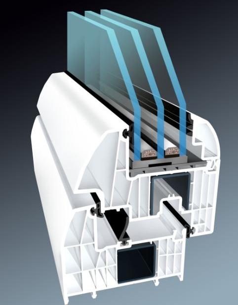 műanyag ablak profil háromrétegű üveggel